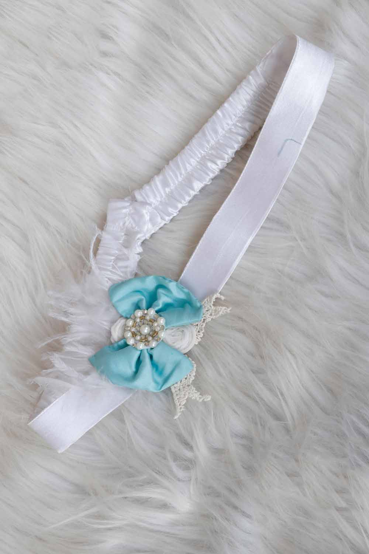 Sky Blue Bow Belt