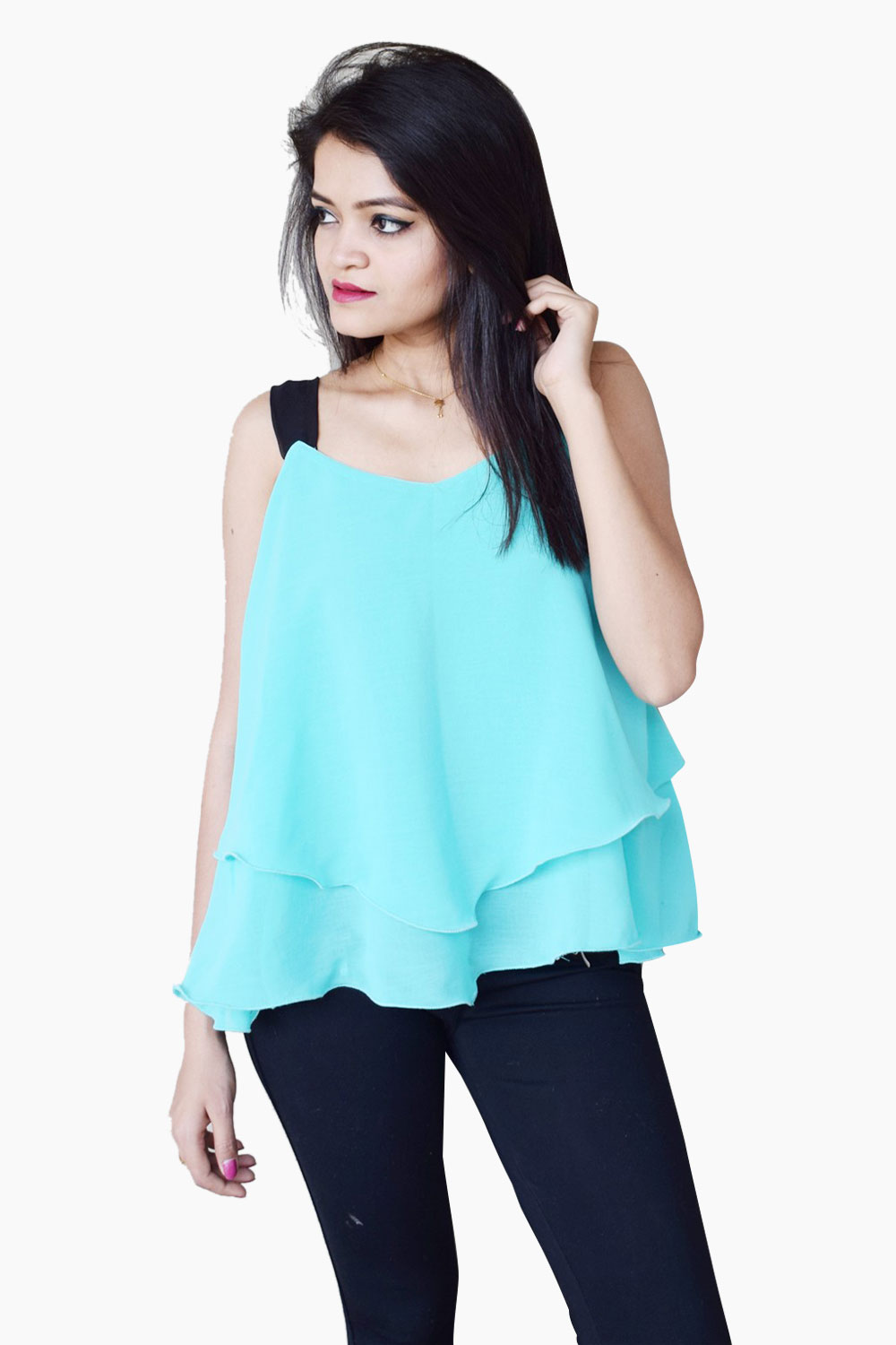 Skyblue Layer It Up Top