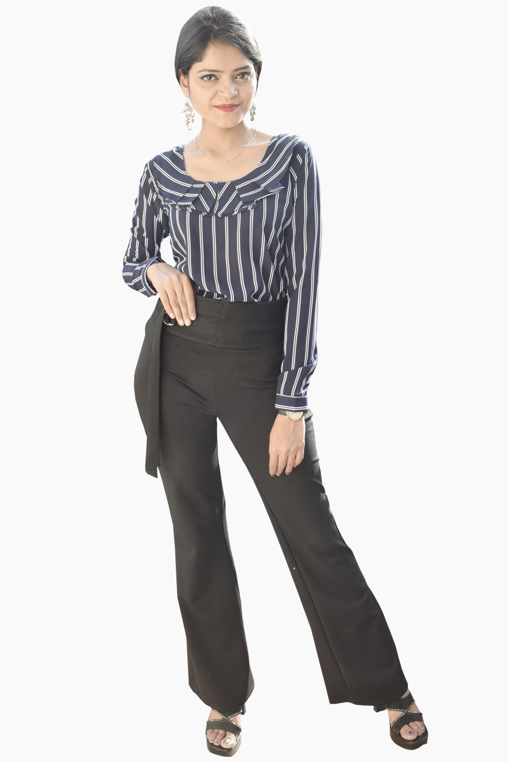 Striped Up Formal Top