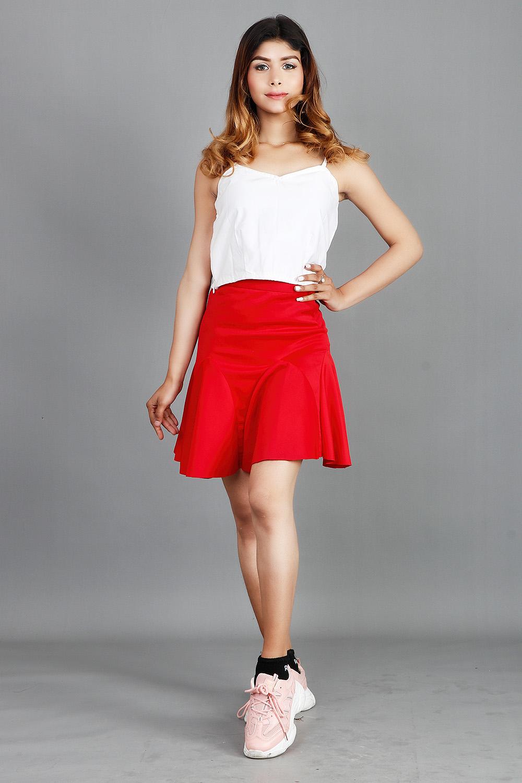 Stylish Scuba Mini Skirt