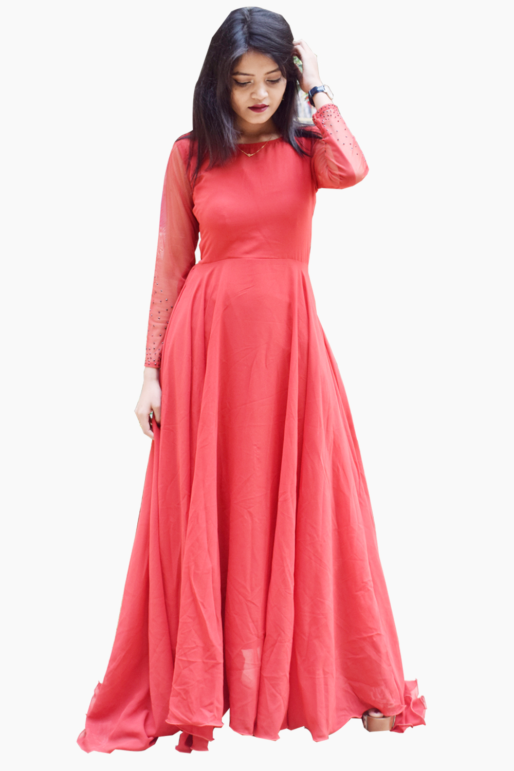 Transie Back Gown