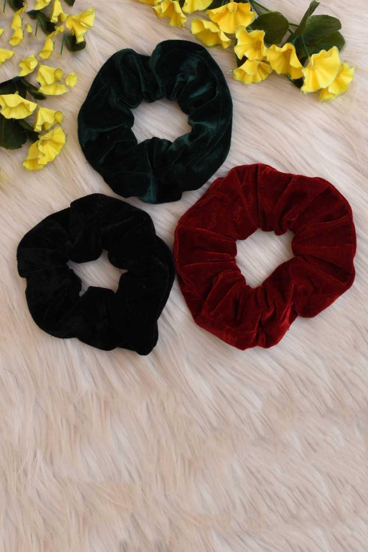Velvet Scrunchies Combo
