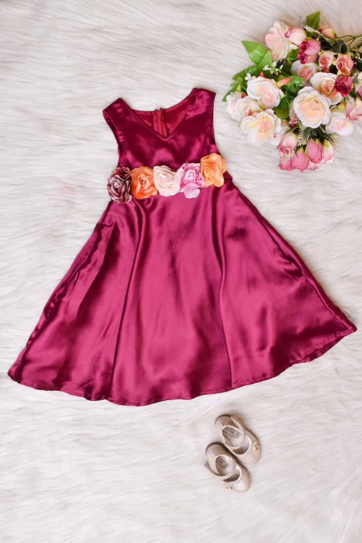 Vine Satin Kids Gown