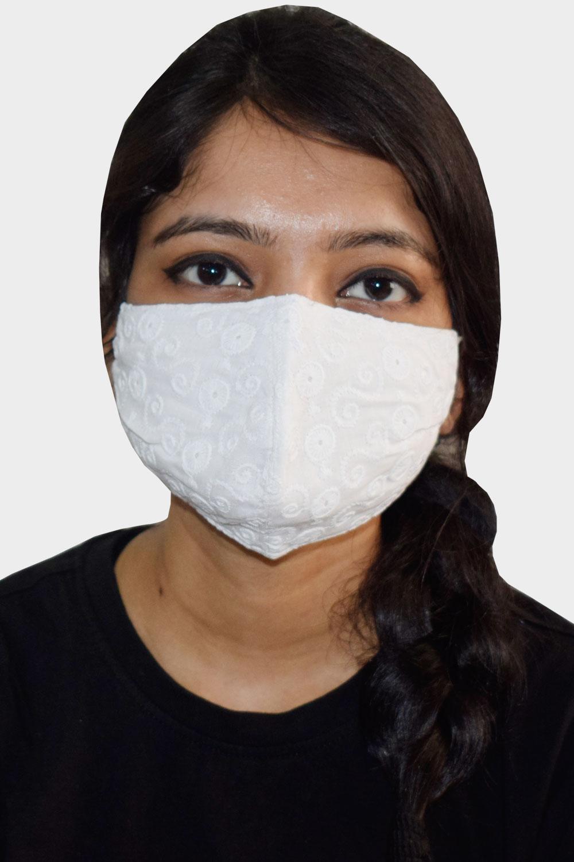 White 2 layers Reusable Cotton Mask