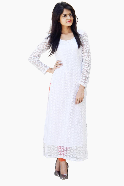 White Elegant Kurti