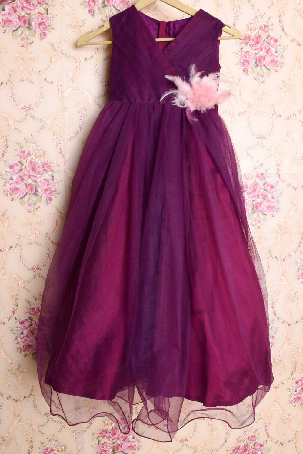 Wine Baby Gown