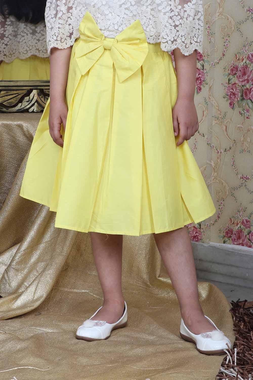 Yellow Flared Skirt